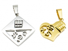 2 Pcs Stainless Steel Pendants PS-0945 PS-0945 PS-0945 PS-0945