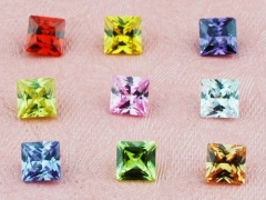 9Pcs Zircon Parts For Glass Locket