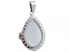Stainless Steel  Locket Pendant With Czs