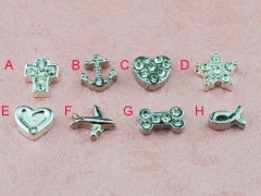5Pcs Alloy Parts For Glass Locket
