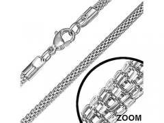 Small Stainless Steel  Round Mesh Necklace