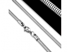 Round Snake Chainsmall Stainless Steel Necklace