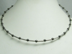2mm Stainless Steel Spinning Tube Ball Choker Necklace