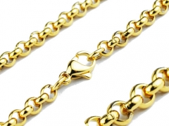 Stainless Steel Gold Chain
