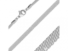 Stainless Steel Flat Mesh Link Chain For Pendant