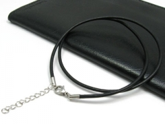 Leather Cable with Stainless Steel Closure