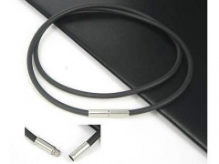 3mm Rubber Cable with Stainless Steel Closure