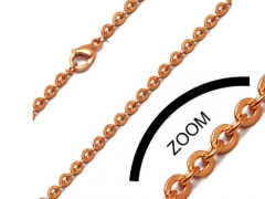 Rose Gold Small Stainless Steel Chain For Pendant