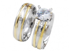 1 Pair Stainless Steel Ring