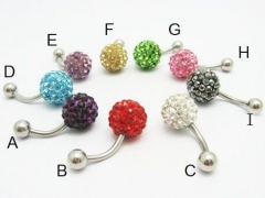 1 Piece Stainless Steel Belly Ring