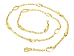 Gold Pvd Stainless Steel Chain