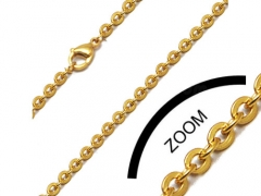 1mm Gold Stainless Steel Chain