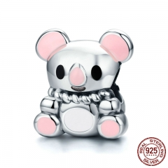 Animal Collection 100% 925 Sterling Silver Australia Cute Koala Beads fit Charm Bracelet & Necklace Silver Jewelry SCC624