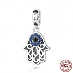 Eye Design Series 100% 925 Sterling Silver Blue Wicked Eye Pendant Fit Bracelets & Bangles Fashion Jewelry SCC085