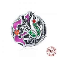 New Collection 925 Sterling Silver Colorful CZ Frog Adventure Round Beads Fit Charm Bracelets & Necklaces Jewelry SCC852