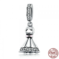 New Collection 925 Sterling Silver Sunny Dolls Pendant Charm fit Charm Bracelets & Chain Necklaces DIY Jewelry SCC749