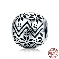 Hot Sale Authentic 925 Sterling Silver Tree of Life Snowflake Flower Round Beads fit Women Bracelet DIY Jewelry SCC551