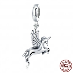 Authentic 100% 925 Sterling Silver Trendy Memory Charm Pendant fit Women charm Bracelet DIY Jewelry Making SCC704