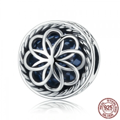 100% 925 Sterling Silver Summer Flower Flower Love Charm Beads fit Charm Bracelet & Bangles DIY Jewelry Making SCC712