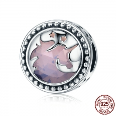 Hot Sale Authentic 925 Sterling Silver Fantasy Big Stone Charm Beads fit Charm Bracelet DIY Jewelry Gift SCC377
