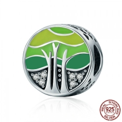 New Collection 100% 925 Sterling Silver Spring Forest Tree of Life Beads fit Women Bracelets DIY Jewelry Gift SCC220