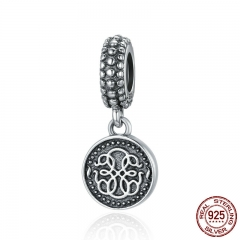 New Arrival 925 Sterling Silver Symbol Of Life Dangle Pendant Charms fit Women Charm Bracelets Necklace Jewelry SCC284