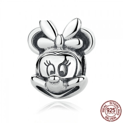 Baby Gift 925 Sterling Silver Cartoon Portrait Beads Charms with Knot fit Bracelets Women Fine Jewelry PAS322