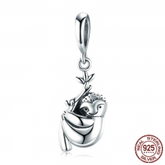 New Collection 925 Sterling Silver Animal Love Cute Sloth Pendant Charm fit Charm Bracelets Silver Jewelry Making SCC866