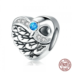 Romantic New Genuine 925 Sterling Silver Charm Love Of Swan Wings Beads fit Women Charm Bracelets DIY Jewelry BSC017
