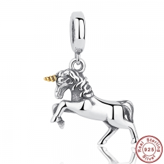 GIFT of The Winner Noble Elegant 100% 925 Sterling Silver Free Spirit Horse Animal Charm Pendant Fit Bracelet PAS020