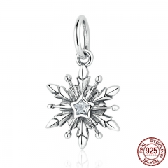 New Arrival 925 Sterling Silver Dsny, Freeze Snowflake Bead Charms Fit Bracelets & Necklaces Fine Jewelry PAS363