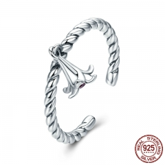 100% 925 Sterling Silver Elegant lily Flower Petal Adjustable Open Finger Ring for Women Sterling Silver Jewelry SCR279