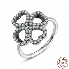 New Luxury 925 Sterling Silver Heart-Shaped Petals of Love Ring Ancient Silver Ring Original Jewelry PA7175