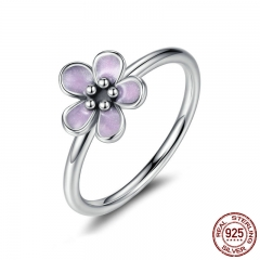 Light Purple Elegant 925 Sterling Silver Finger Rings for Women High Quality Engagement Jewelry anelli PA7169