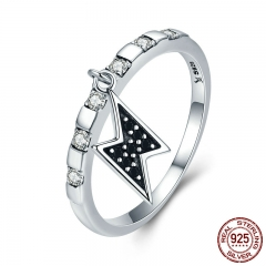 925 Sterling Silver Day Ring Thursday Thor Power Lighting Dangle Female Ring for Women Sterling Silver Jewelry SCR269
