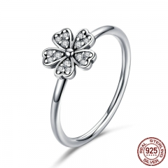 Hot Sale 100% 925 Sterling Silver Wedding Daisy Flower Finger Rings for Women Sterling Silver Jewelry Gift S925 SCR398