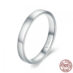 High Quality 925 Sterling Silver Wedding Ring Classic Round Finger Ring Women Wedding Engagement Jewelry Gift SCR343
