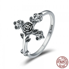Authentic 100% 925 Sterling Silver Love Beliefs Faith Cross Finger Rings for Women Sterling Silver Jewelry Anel SCR179
