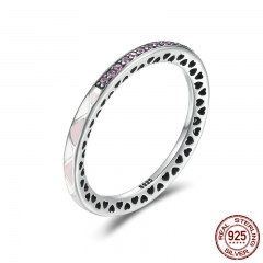 New Arrival 925 Sterling Silver Puzzle Romance Radiant Heart Finger Rings for Women Wedding Engagement Jewelry SCR110