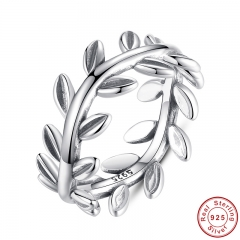 New Collection Authentic Laurel Wreath Laurel Leaves Ring 100% Fine 925 Sterling Silver Jewelry PA7156