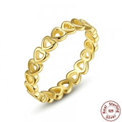 Linked Love Openwork Heart Stackable Finger Ring for Women Engagement & Wedding Jewelry PA7140