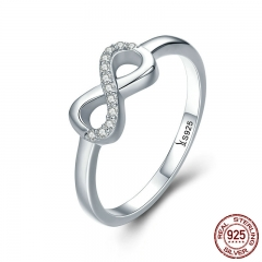 Hot Sale 100% 925 Sterling Silver Forever Infinity Love Finger Rings for Women Wedding Anniversary Jewelry Anel SCR332