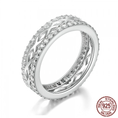 High Quality 925 Sterling Silver Elegant Gorgeous Melody Letter X Clear CZ Stackable Ring Wedding Jewelry Anel SCR146