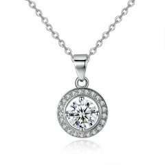 Summer Collection Silver Color Round Shape Full Of Love Necklaces & Pendants Women Fashion Jewelry YIN056
