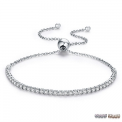 FLASH DEALS 925 Sterling Silver Sparkling Strand Bracelet Women Link Tennis Bracelet Silver Jewelry SCB029