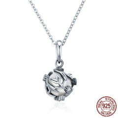 Authentic 925 Sterling Silver Dazzling Vines Leaves Love Pendant Necklace for Women Luxury Sterling Silver Jewelry SCC276