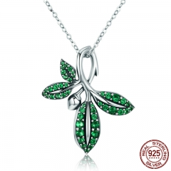 High Quality 925 Sterling Silver Summer Collection Tree Leaves Pendant Necklace for Women Sterling Silver Jewelry SCN226