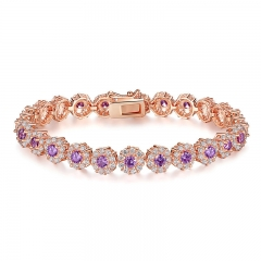 New Hot Sale Luxury Fashion Rose Gold Color Women Bracelet Wedding Jewelry Wholesale JIB080 FASH-0095