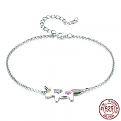 100% Genuine 925 Sterling Silver Trendy Memory Lobster Clasp Women Bracelet & Bangles Silver Jewelry SCB077
