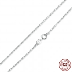 Free Shipping 925 Sterling Silver Adjustable Basic Chain Necklace Lobster Clasp Simple Fashion Necklace Jewelry SCA002-45